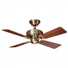 Hunter Bayport Fan in Antique Brass