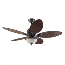 Hunter Caribbean Fan in Breeze Weathered Bronze
