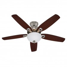Hunter Builder Fan in Deluxe Brushed Nickel