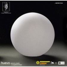 Huevo Medium Ball Table Lamp 1 Light Outdoor IP65 White