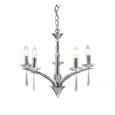 Hyperion Ceiling Light (Dual Mount) - 5 Light Polished Chrome