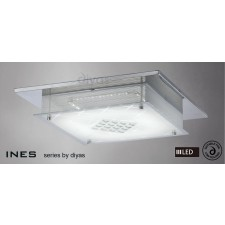 Diyas Ines Ceiling 75X0.72W LED Chrome/Crystal 3600K