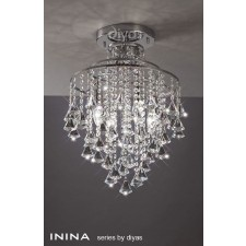 Diyas Inina Ceiling 4 Light Polished Chrome/Crystal