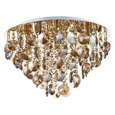 Jester Flush Ceiling Light - Gold