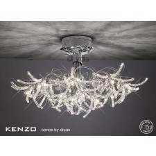 Diyas Kenzo Ceiling 12 Light Polished Chrome/Crystal