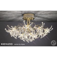 Diyas Kenzo Ceiling 12 Light Gold/Crystal