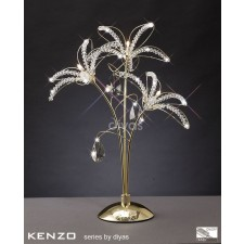 Diyas Kenzo Table Lamp 3 Light Gold/Crystal