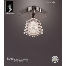 Keops Fixed Ceiling 1 Light Satin Nickel