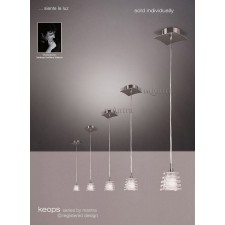 Keops Pendant 1 Light (Adjustable) Satin Nickel