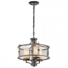 Kichler KL/AHRENDALE3 Ahrendale 3-Light Duo-Mount Chandelier