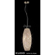 Diyas Kos Pendant Drum 4 Light French Gold/Crystal