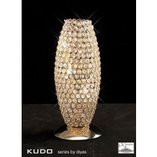 Diyas Kos Table Lamp 3 Light French Gold/Crystal