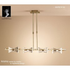 Kromo Pendant Line 4 Light Antique Brass