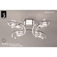 Kromo Ceiling 4 Light Polished Chrome