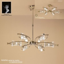 Kromo Pendant 6 Light Antique Brass