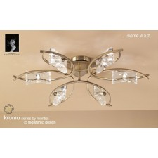 Kromo Ceiling 6 Light Antique Brass