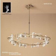 Kromo Pendant Round 8 Light Antique Brass