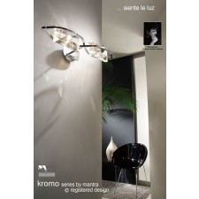 Kromo Wall 2 Light Polished Chrome Switched