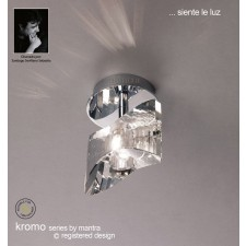Kromo Ceiling 1 Light Polished Chrome