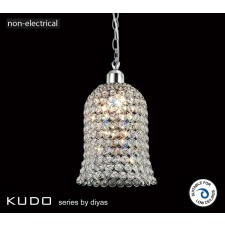 Diyas Kudo Bell Shade Polished Chrome/Crystal