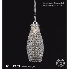 Diyas Kudo Crystal Drum Shade Polished Chrome Non-Electrical