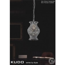 Diyas Kudo Crystal Shade Polished Chrome Non-Electrical Vase Shape