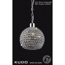 Diyas Kudo Crystal Ball Shade Polished Chrome Non-Electrical