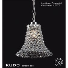 Diyas Kudo Crystal Shade Polished Chrome Non-Electrical Cone Shape