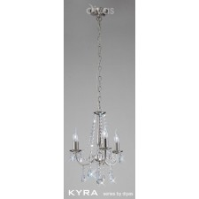 Diyas Kyra Pendant 3 Light Satin Nickel/Crystal