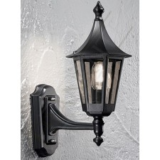 Franklite Exterior Boulevard (Up) Wall Lantern - Matt Black, IP43