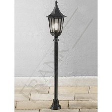 Franklite Boulevard Half Post - Matt Black, Smoked Glass, IP43