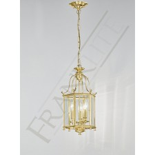 Franklite Montpelier Lantern Light - 3 Light, Polished Brass