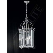 Franklite Madison Lantern Light - 3 Light, Polished Chrome