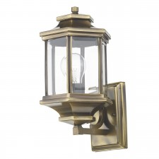 Ladbroke Wall Lantern - Antique Brass/Bevelled Glass