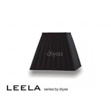 Diyas Leela Square Shade Black 250mm