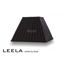Diyas Leela Large Square Shade Black 350mm