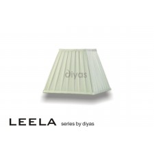Diyas Leela Square Shade Ivory 250mm