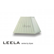 Diyas Leela Square Shade Ivory 300mm