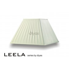 Diyas Leela Square Shade Ivory 400mm