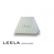 Diyas Leela Square Shade White 300mm