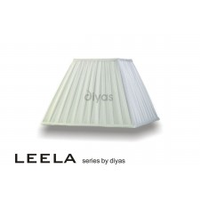 Diyas Leela Square Shade White 350mm