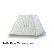 Diyas Leela Square Shade White 400mm