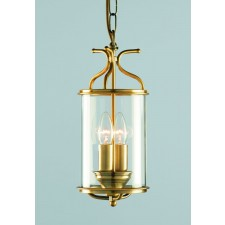 Impex Winchester Lantern Antique Brass - 2 Light