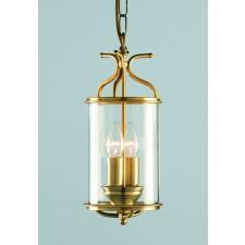 Impex Winchester Lantern Antique Brass - 2 Light