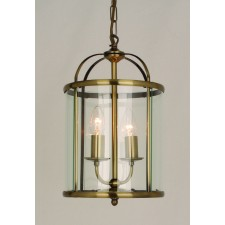 Impex Orly Pendant Light Antique Brass - 2 Light