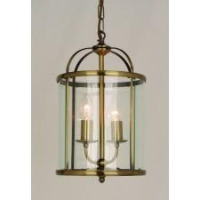 Impex Orly Pendant Light Antique Brass - 2 Light