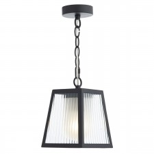 Limassol 1 Light Pendant Black IP44