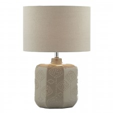 Dar Lincoln Table Lamp Taupe