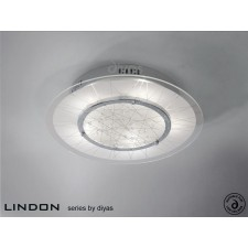 Diyas Lindon Ceiling Round 5 Light Chrome/Crystal
