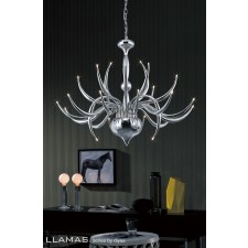 Diyas Llamas Pendant 24 Light Polished Chrome